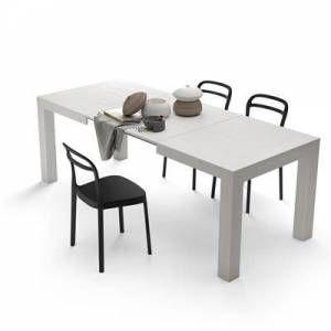 Mobili Fiver Tavolo Allungabile Moderno Iacopo Bianco Frassino En 2021 Table Extensible Table A Manger Extensible Table Salle A Manger