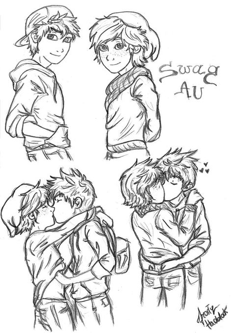 Hijack Swag AU Sketches by Laven96 on deviantART