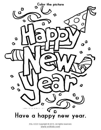 Https Www Teacherspayteachers Com Product New Years Classroom Center Bundle 3410173 New Year Coloring Pages New Year Clipart Coloring Pages For Kids