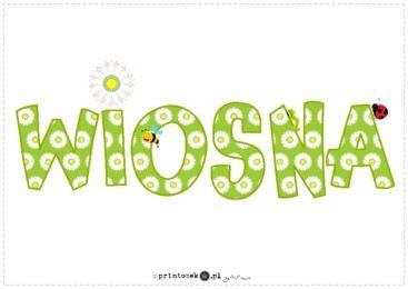 Wiosna Napis Printoteka Pl Mario Characters Spring Decor Diy And Crafts