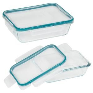 Snapware Total Solutions 4 Piece Glass Rectangle Storage Value Pack 1109329 The Home Depot Rectangle Storage Snapware Pyrex Glass