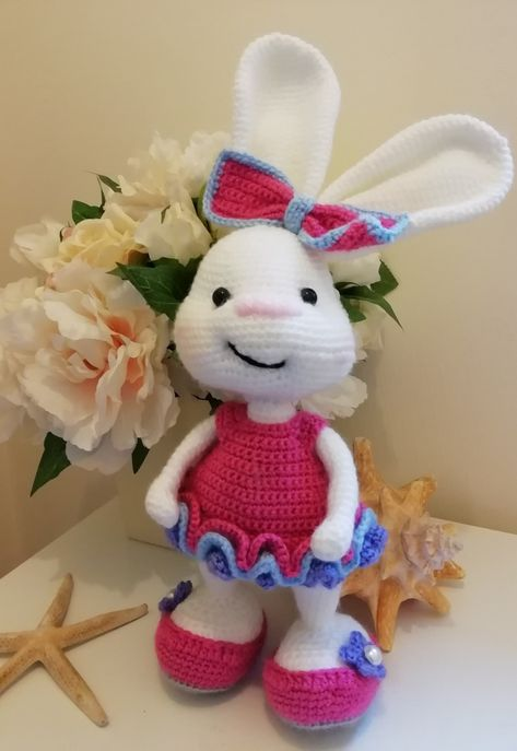 The Pretty Bunny Amigurumi Pattern will... - Amigurumi Today ... | 687x473