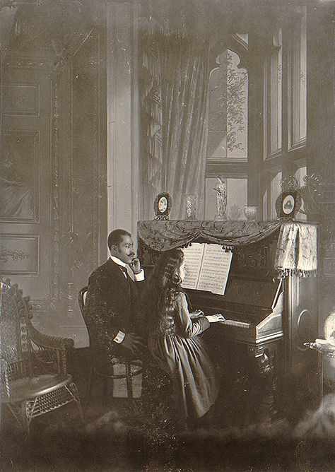 C1899 piano lesson.  From the W E B Dubois collection