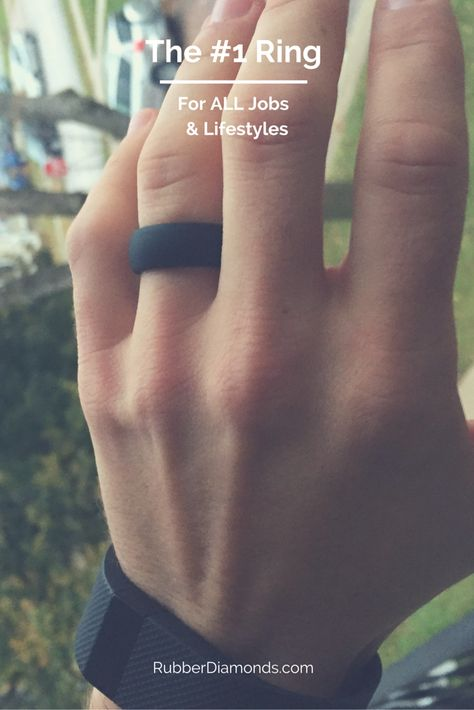 Men's and Women's Hard Working Silicone Ring.  RubberDiamonds' Rings are made from 100% medical grade silicone and provide much safer and stylish alternative to the traditional metal wedding band.