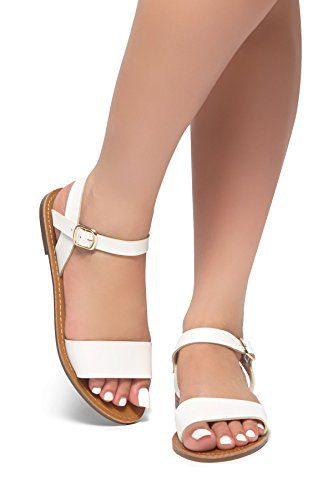 HerStyle Needed Me Ankle Strap Flat Platform Sandal (Tan)