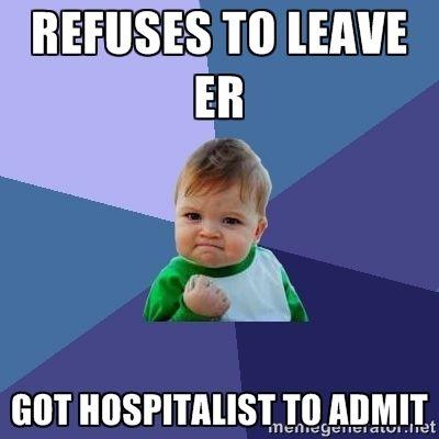 Collection of original  #Hospitalist humor memes!