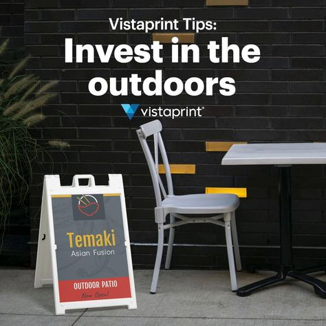 Small Business Outdoor Dining   Vistaprint Tips