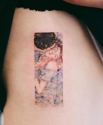 Fine Art Inspired Tattoos Cool Small Tattoos Klimt Tattoo