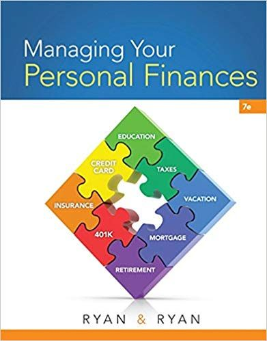 Managing Your Personal Finances 7th Edition By Joan S Ryan In
