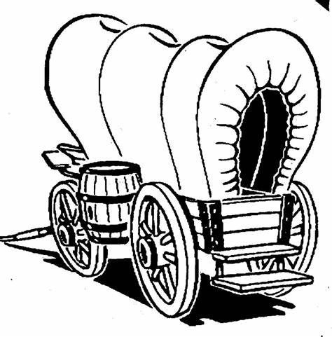 Conestoga Wagon Drawing At Getdrawings Free Download Sketch Template Western Clip Art Covered Wagon Horse Quilt