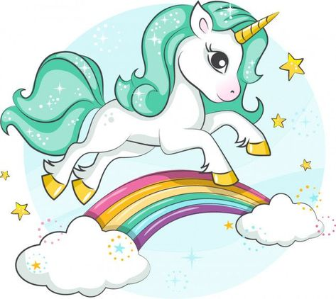 Magical Unicorn Rainbow Stars Wall Sticker. #unicornwalldecal #unicornwallsticker #unicornwallart #girlsbedroomideas #iconwallstickers
