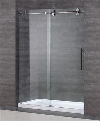 60 X 75 Rectangular Glass Shower Doors 10mm Tempered Glass Stainless Steel Frame Reversible For Door Opening O Glass Shower Shower Doors Sliding Shower Door