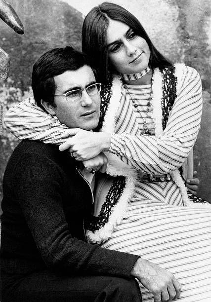 Americanborn Italian Actress Romina Power Hugging Her Husband