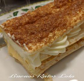 Bandas De Hojaldre Con Crema Pastelera Y Nata Mc Plus Y Horno Buenos Ratos Lola Pastelera Crema Pastelera Hojaldre