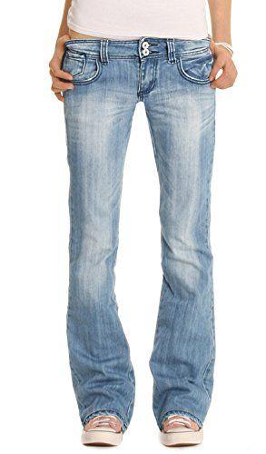 54803fa8065be3 Bestyledberlin Jean pour femmes, jean à taille basse / bootcut j06x ...