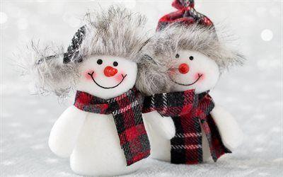 Herunterladen Hintergrundbild Schneemanner Spielzeug Schnee Winter Neujahr Weihnachten Besthqwallpapers Com Weihnachtshintergrund Weihnachten Hintergrundbilder Hintergrundbilder Kostenlos