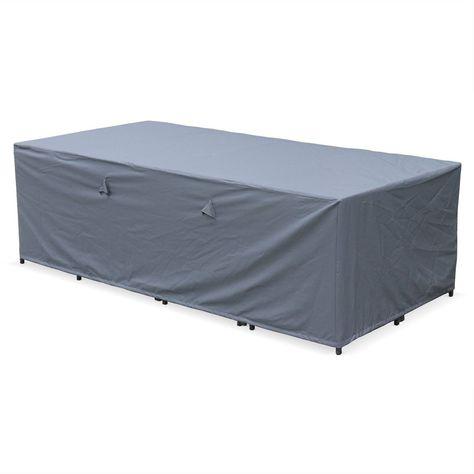 Housse De Protection 230x112cm Gris Fonce Polyester Pour Tables De