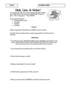 This writing activity packet (9 pages long) is geared at improving students expository writing skills, with particular emphasis on evaluation and problem-solution.