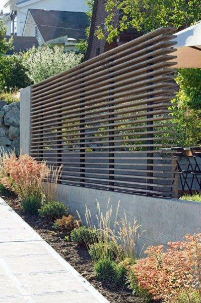 Top 60 Best Modern Fence Ideas Contemporary Outdoor Designs Modernlandscapedesign Materials In 2020 Modern Landscaping Privacy Fence Designs Modern Fence Design