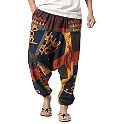 ميكانيكيا دفعة صالون Pantalones Hippies Hombre Ffigh Org