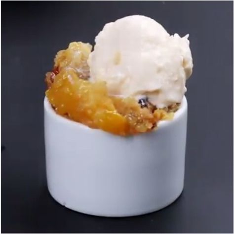 Pour A Can Of Peaches Into A Slow Cooker. 3 Ingredients Later, The Result Is A Dessert To Die For