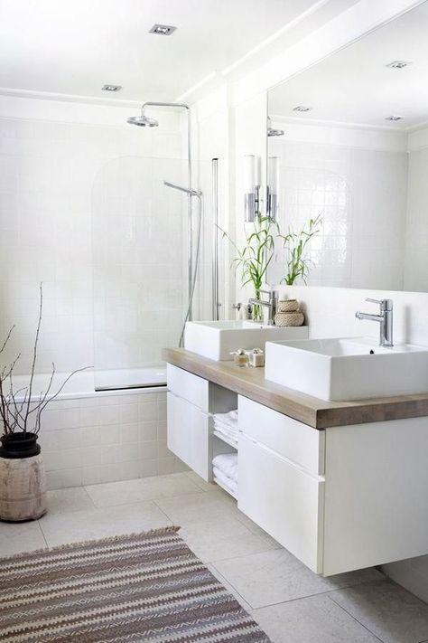 Elegantes Und Modernes Badezimmer In Weiss Badezimmer Elegantes