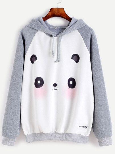 Shop Raglan Sleeve Cartoon Panda Print Hooded Sweatshirt online Australia,SHEIN offers huge selection of Sweatshirts more to fit your fashionable needs.