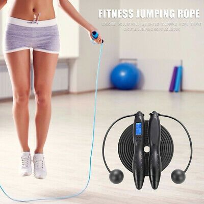 Digital Counting Jump Rope Electronic Calorie Fitness Wireless Skipping Rope Set