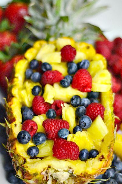 4-Ingredient Fruit Salad and a Pineapple Boat