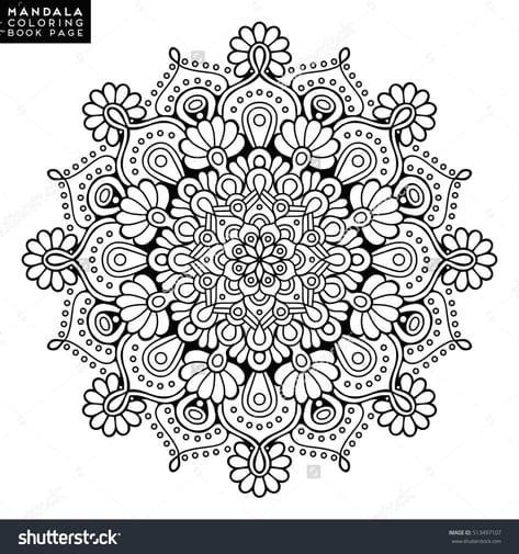 Flower Mandala Vintage Decorative Elements Oriental Pattern Vector Illustration Islam Arabic Mandala Coloring Books Flower Mandala Mandala Coloring Pages