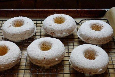 Gluten-Free Powdered Cake Doughnuts.