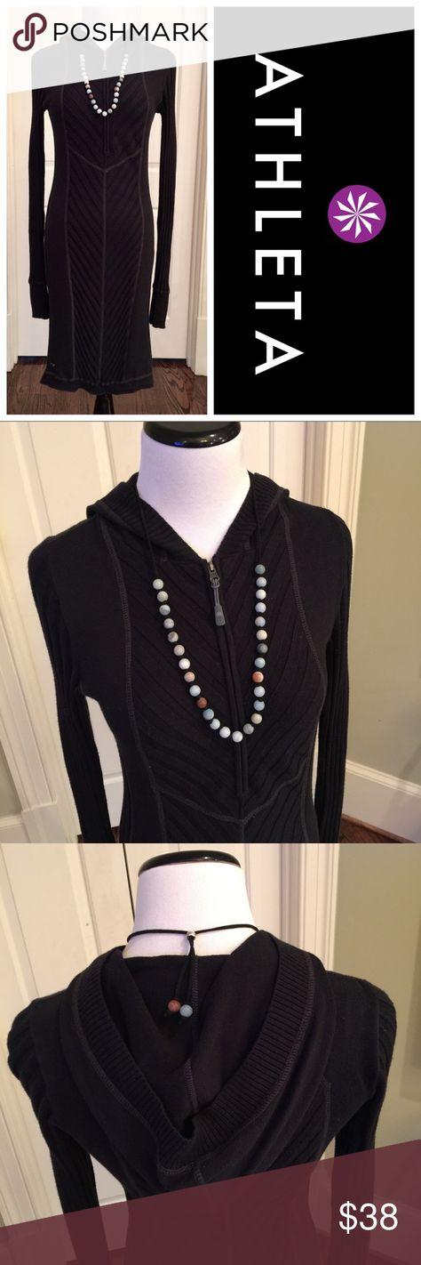 Athleta Organic Cotton & Wool Casual Dress, Size S