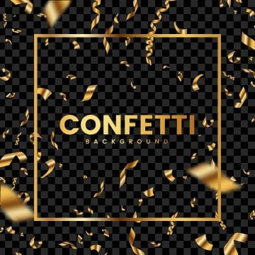 Black Confetti Wedding Gold Transparent Holiday Tinsel Party Glitter New Foil Golden Frame Luxur Confetti Background Gold Confetti Background Images Wallpapers Gold black white wallpaper confetti