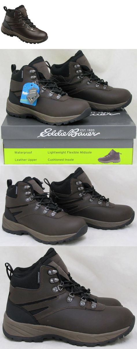 0429f004c18b2 Mens 181392  Eddie Bauer Men S Everett Hiking Boots Shoes Waterproof  Leather Brown Sz 13