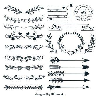 Download Hand Drawn Wedding Ornaments Collection For Free How To Draw Hands Hand Drawn Wedding Wedding Ornament