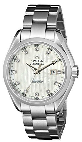 Omega Watch for Women Omega Womens 23110342055001 Seamaster Aqua Terra Automatic Silicon BalanceSpring White MotherofPearl Dial Watch — Continue to the product at the image link. (This is an affiliate link) Discovred by : Wristwatch