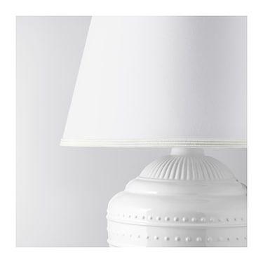 Rickarum White Table Lamp 47 Cm Ikea Lamp White Table Lamp Table Lamp