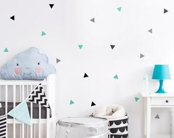Large Triangle Wall Decals Triangle Vinyl Decals Peel And Stick