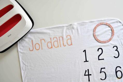 DIY Milestone Baby Blanket - Tastefully Frugal