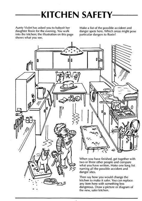 Safety In The Home Worksheets Kitchen Safety Kitchen Safety