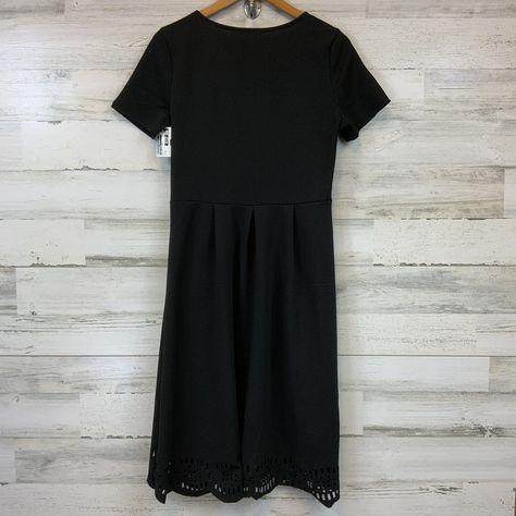 Brand: PINK BLUSH Style: MATERNITY DRESS BASIC Color: BLACK Size: M SKU: 132-13262-39639