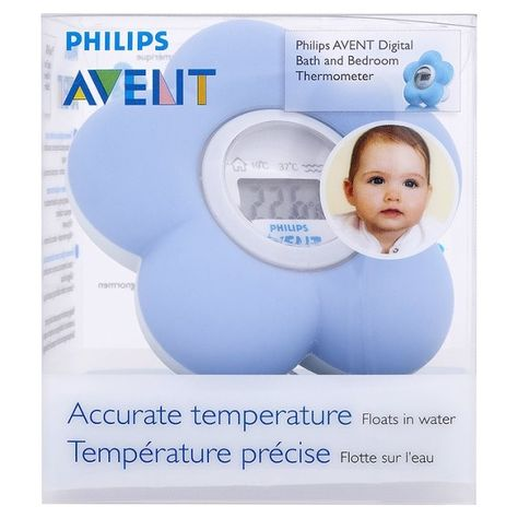 Room Temperature Philips AVENT Bath /& Room Baby Digital Thermometer Water