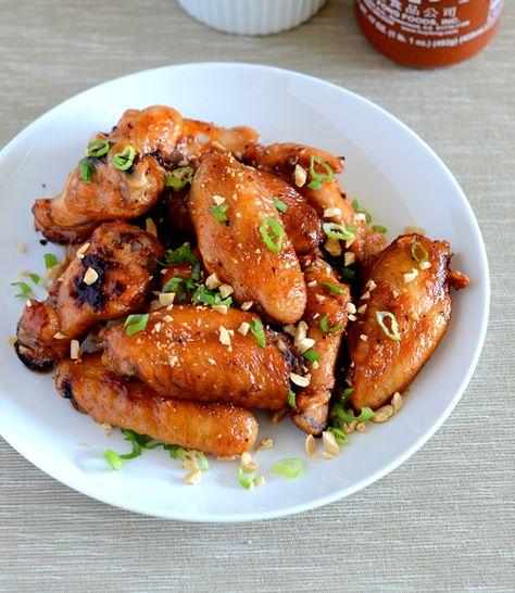 sriracha garlic wings...
