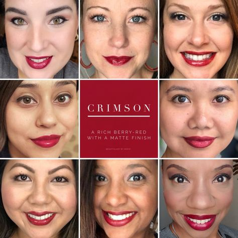 Crimson LipSense is a gorgeous matte berry-red that is absolutely stunning. LipSense is a lip color that will last 4-18 hours when worn with our gloss, and is smudge and budge proof. Perfect fall lipstick color