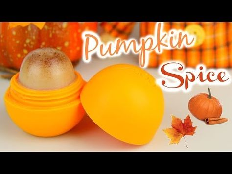 DIY Pumpkin Spice EOS Lip Balm! - YouTube