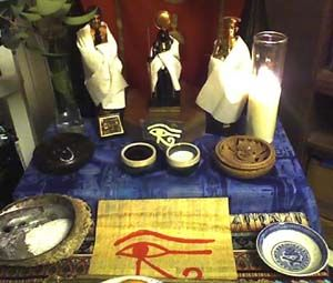 Offerings at a modern Kemetic shrine | Come To The Labyrinth | World