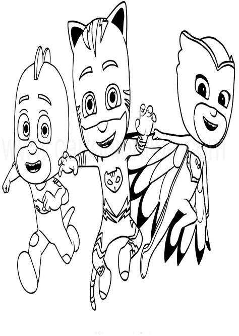 Dibujos Colorear Pj Masks Dibujos Para Colorear Libro De