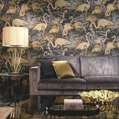 Interieur Ideeen Behang.Van Keuken Naar Interieur In 2020 Flamingo Behang Decoraties En