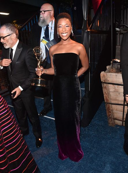 Samira Wiley attends the 2018 Creative Arts Emmys Ball.