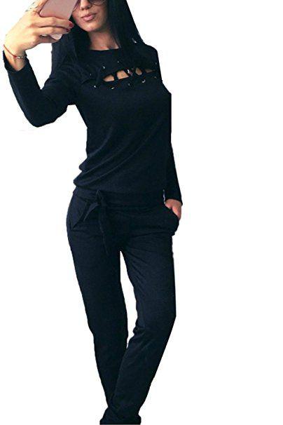 Sport Sportanzug Freizeit Frauen Damen Sweatshirt Hose Sportbekleidung